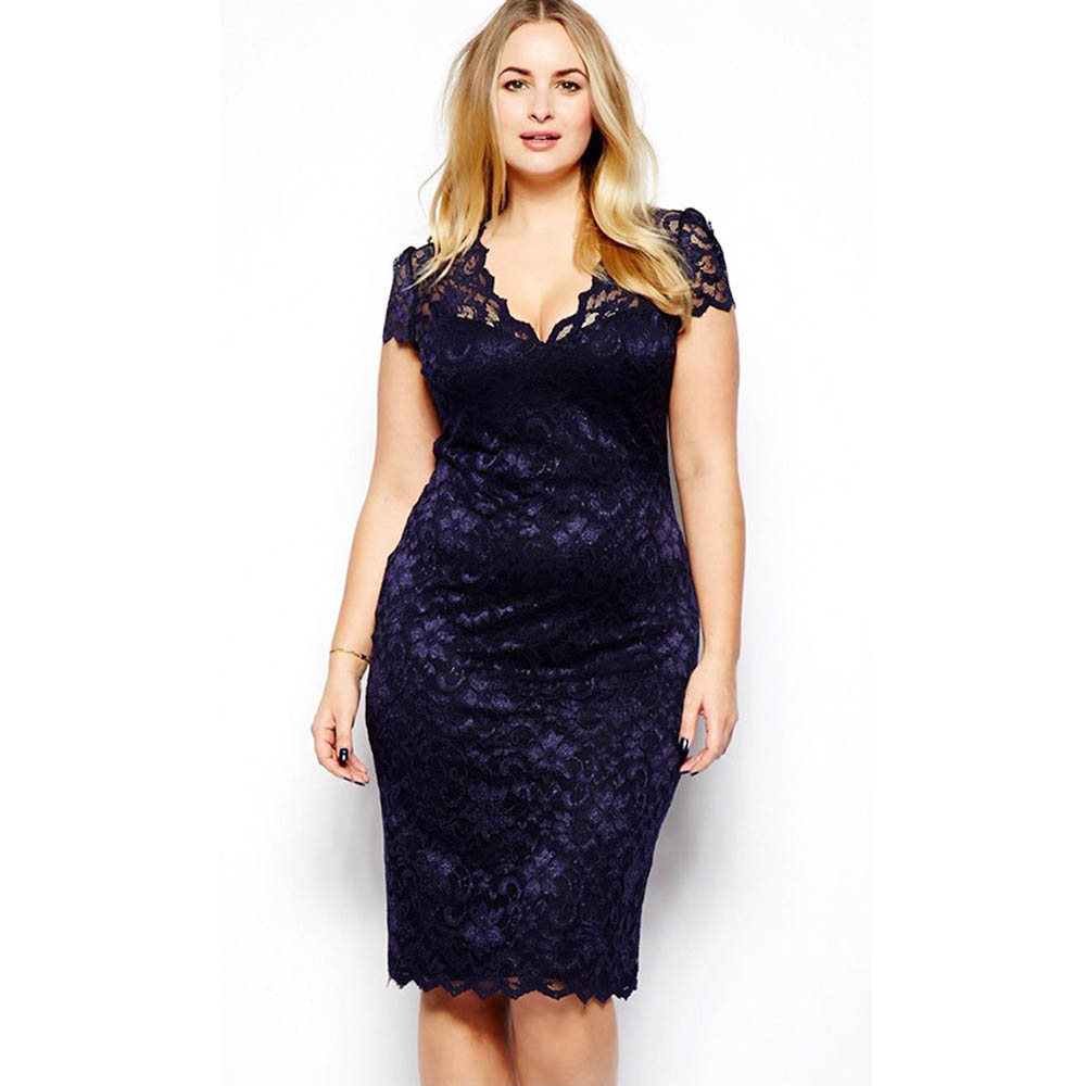 Women\'s Lace Floral Cocktail Dress Night Party Dresses Navy Blue ...